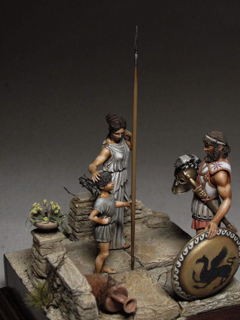 1/32 54mm Son Spartan (3 FIGURES WITH BASE)  Toy Resin Model Miniature Resin Figure Unassembly Unpainted