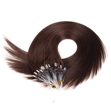 Straight Loop Micro Ring Hair 1g/s 50g/pack 100% Human Micro Bead Links Remy Hair Straight Extensions #613 Blonde