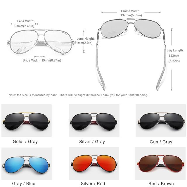 Vintage Pilot Style Aluminum Polarized Sunglasses