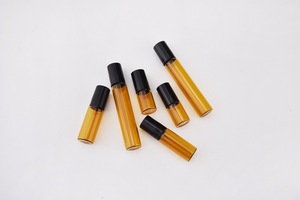 Image 4 - 50pcs/lot 1ml 2ml 3ml 5ml 10m Amber Perfume Glass Roll on Bottle with Glass/Metal Ball Brown Roller Essential Oil Vials Thin
