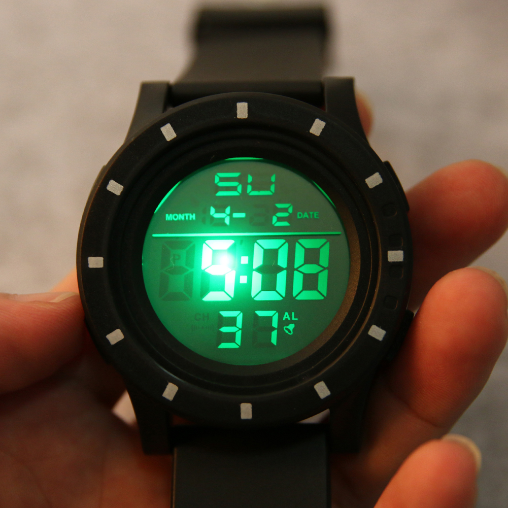 OHSEN Wristwatch Digital Outdoor-Sport Electronic Men Relogio New Green Gift Cool Led