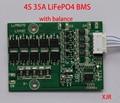 4S 35A 12.8 V LiFePO4 BMS/PCM/PCB placa de circuito de protección de la batería para 4 Paquetes de 18650 Célula de La Batería w/Balance