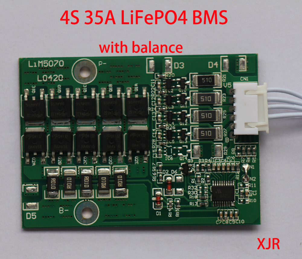 4s 35a 128v Lifepo4 Bms Pcm Pcb Battery Protection Circuit Board 18650 For 4 Packs Cell W Balance In Chargers From Consumer Electronics On