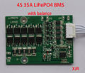 4S 35A 12.8V LiFePO4  BMS/PCM/PCB battery protection circuit board for 4 Packs 18650 Battery Cell w/ Balance