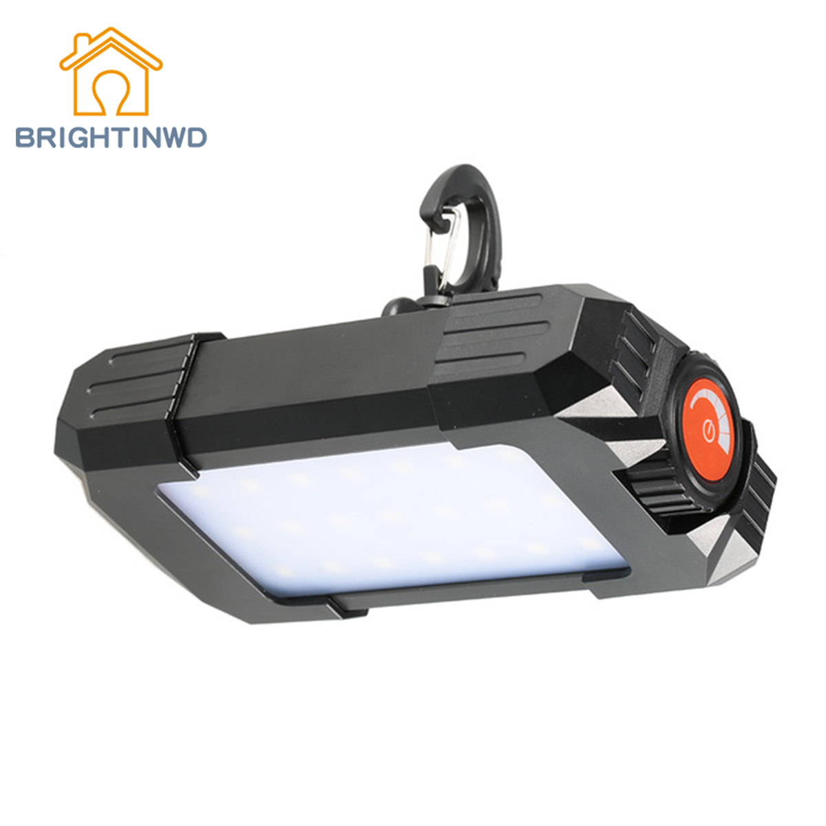 BRIGHTINWD 10W 500LM Camping Tent Light Outdoor Rechargeable Portable 27 LEDs Lantern Lamp Flasher Flashligh with USB interface