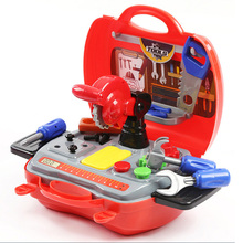 DIY Early Educational Toy Simulation Builders Role Pretend Play Tool Kit Children Kids Cosplay Construction Tool Box цена