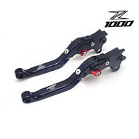 CNC Aluminum Adjustable Foldable Motorcycle Brake Clutch Levers Scooter Brack Levers FOR Kawasaki Z1000 2003 2016