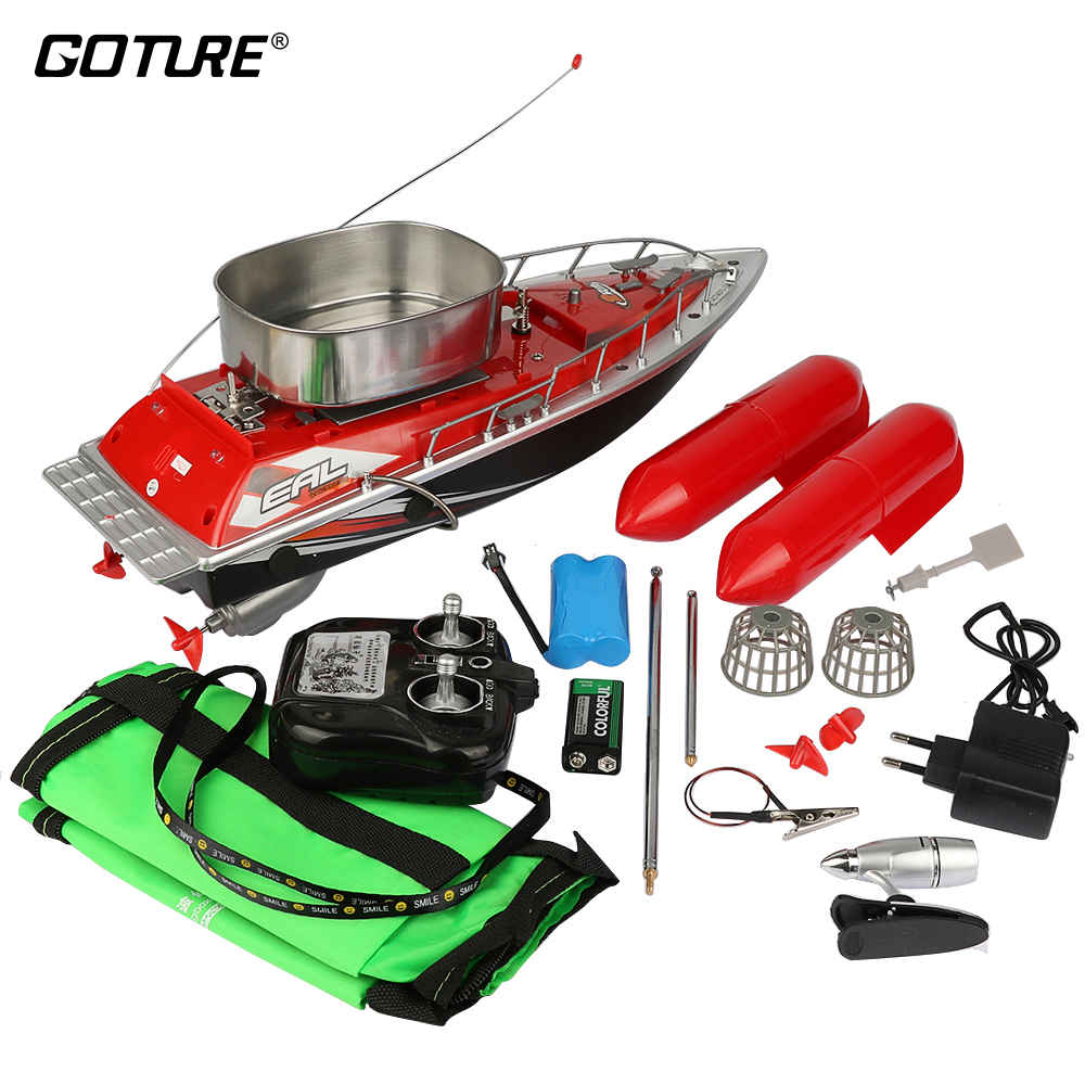 Goture 200M 5/7 Hours Mini Remote Control RC Fishing Bait Boat Fish Finder Fishing Boat Electric Carp Boat mini fast electric fishing bait boat 300m remote control 500g lure fish finder feeder boat usb rechargeable 8hours 9600mah