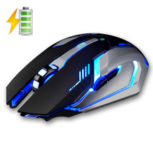X7 2.4GHz Wireless Rechargeable LED Backlit Mouse USB Optical 6 Buttons Ergonomic Silent Gaming Mouse Gamer 1600DPI PC Laptop(China)