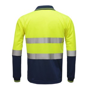 Image 3 - Hi Viz Safety Werk Poloshirt Reflecterende Hoge Zichtbaarheid Lange Mouw Polo Werkkleding Shirt Gratis Verzending