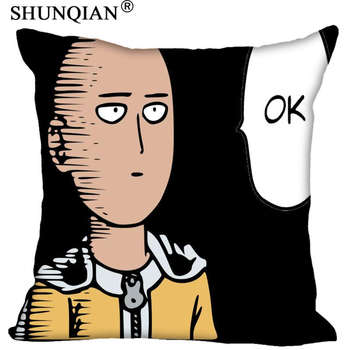 One Punch Man Custom Gift Pillow Cover Decorative Square Zippered Two Side Pillowcase 35x35cm,40x40cm,45x45cm,60x60cm  More Size 1