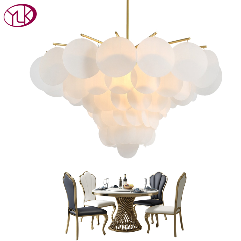 купить Youlaike Modern LED Chandelier For Living Room Round Acrylic Hang Lighting Fixtures Dining Bedroom Home Lamps недорого