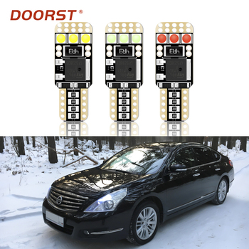 100% Canbus T10 W5W LED coche de luz para Nissan Teana Nissan L33 J32 J31 Terrano 2 3 Tiida Wingroad y12 Y11 Y10 X-Trail