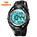 HOSKA Watches Boys And Girls Students Multifunction Electronic Watch LED Korean Version Of Casual Sports Waterproof Watch