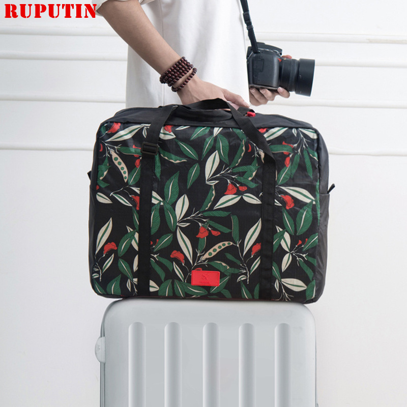 RUPUTIN New Women's Foldable Travel Bags Weekend Portable Garment Organizer Luggage Bag Put On Suitcase Waterproof Handing Bags