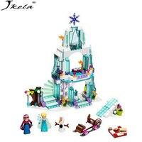 Jkela 316pcs Color Box Dream Princess Elsa Ice Castle Princess Anna Set Model Building Blocks