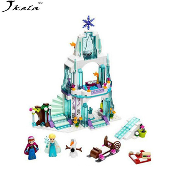 316 Piece Color box Dream Princess Elsa Ice Castle Princess Anna Set