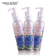Miss Rose Makeup Remover Cosmetics Face Cleansing Oil 120ML Liquid Deep Cleansing Lotion Shrink Pores Lip Eye Clean Facial Care facial cleansing oil