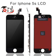 10PCS/LOT No Dead Pixel for IPhone 5S LCD Display Touch Screen Black or White free shopping
