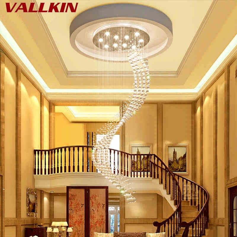 K9 Kristall Treppe LED Kronleuchter moderne künstlerische Spirale - Innenbeleuchtung - Foto 4