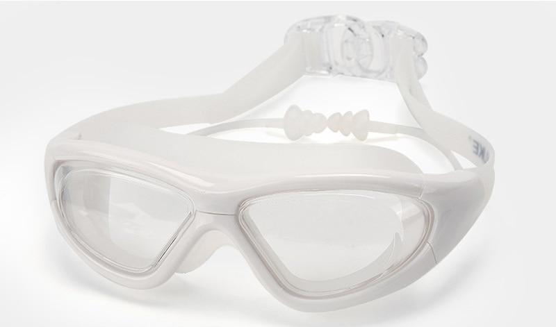 Professional Diopter Myopia Silicone Swimming Goggles Anti-Fog Waterproof With Earplugs 14