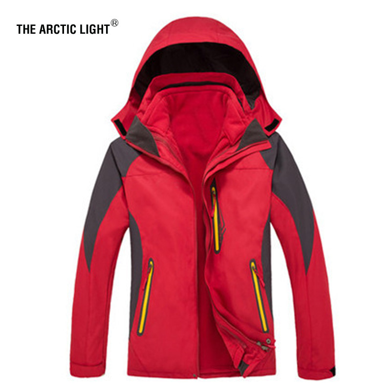 THE ARCTIC LIGHT Ski Jacket Women Winter Ski Coat+lining 3 In 1 Outdoor Camping Loose Coat Hiking Keep Warm Waterproof ClothingTHE ARCTIC LIGHT Ski Jacket Women Winter Ski Coat+lining 3 In 1 Outdoor Camping Loose Coat Hiking Keep Warm Waterproof Clothing