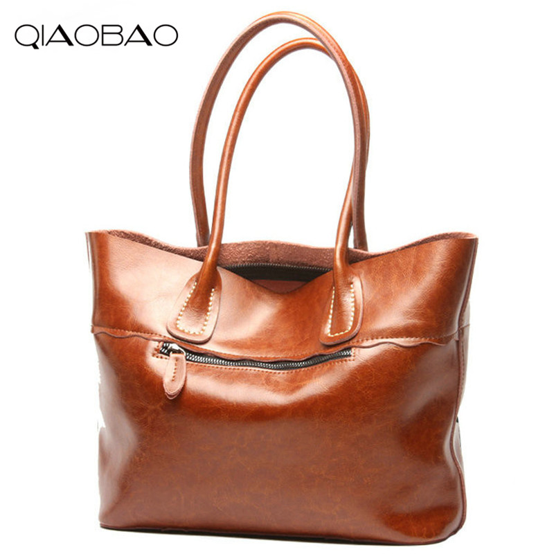 QIAOBAO 100% Genuine Leather bag women Crossbody bag fashion leather handbags female large shoulder bags hobos tote bag qiaobao 100% genuine leather women s messenger bags first layer of cowhide crossbody bags female designer shoulder tote bag
