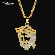 Ожерелье с подвеской в стиле хип хоп изображением Иисуса Христа