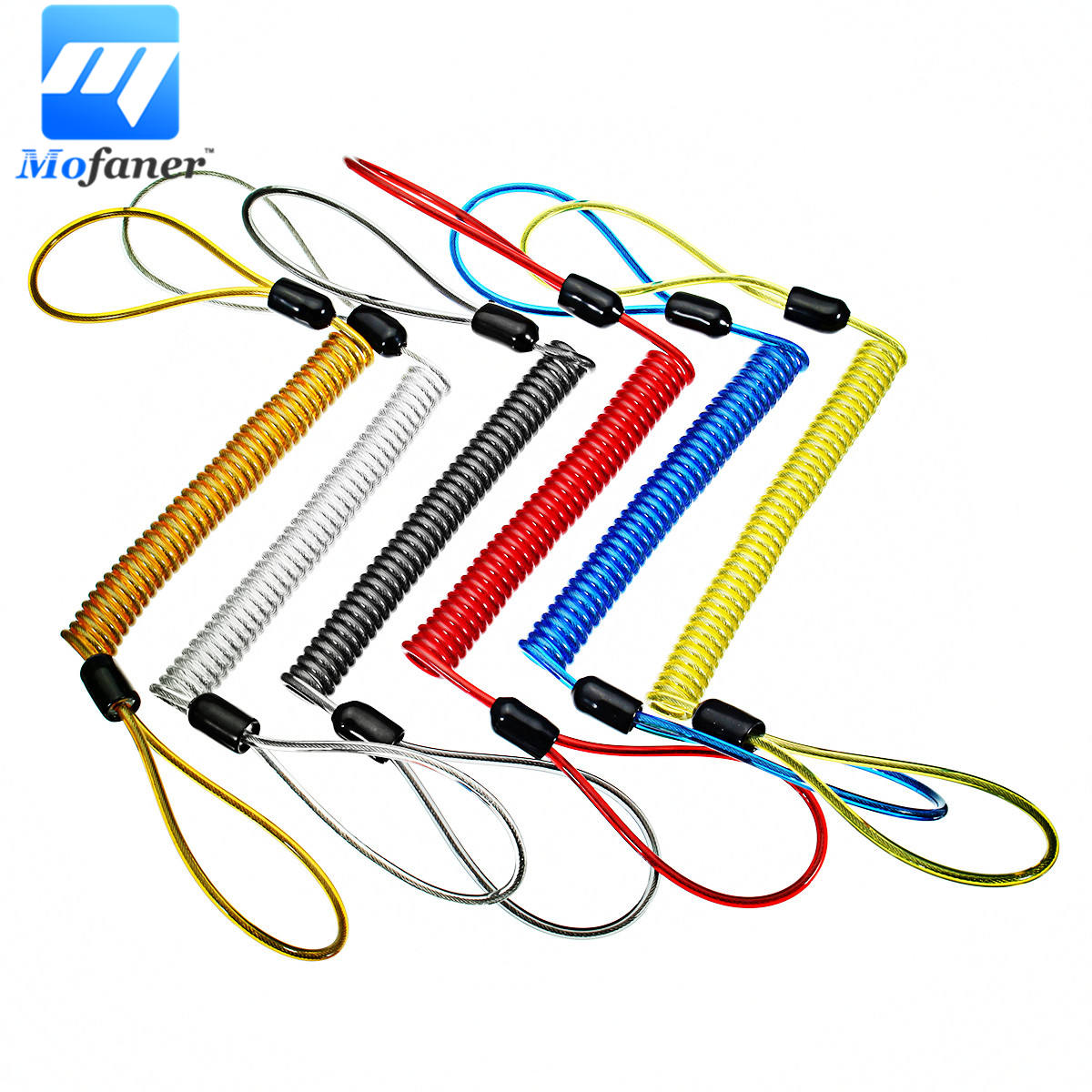 Motorcycle Alarm Disc Lock 1.2m 1.5m cable Motorcycle Scooter Disc Lock Security Reminder Cable Bike Motorbike Safety Tools