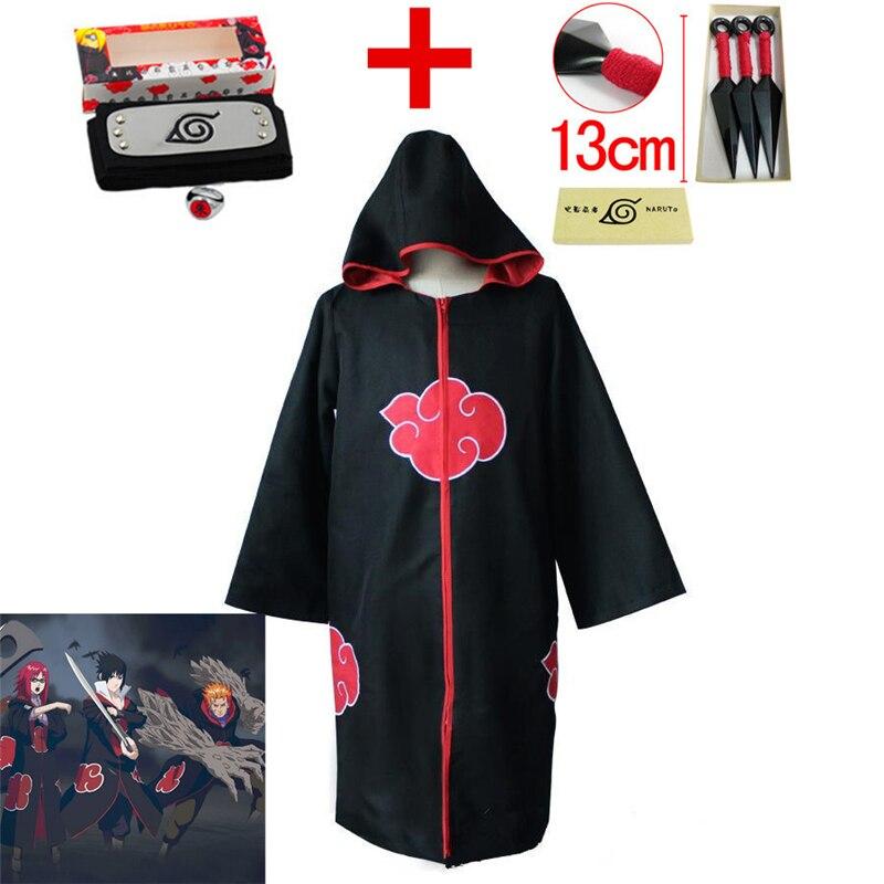 Anime Naruto Taka/Hebi Hawk/Snake Cosplay Costume Kids Adult Hoodies Uchiha Sasuke Akatsuki Cloak +Headband+Ring+Shuriken Suits
