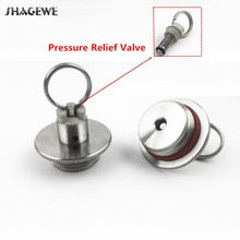 Stainless Steel Homebrew Beer Growler Lid With Pressure Relief Valve 2L/3.6L/5L Keg Replacement