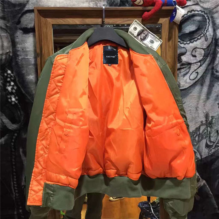 Topdudes.com - Winter Military Motorcycle MA-1 Bomber Jacket