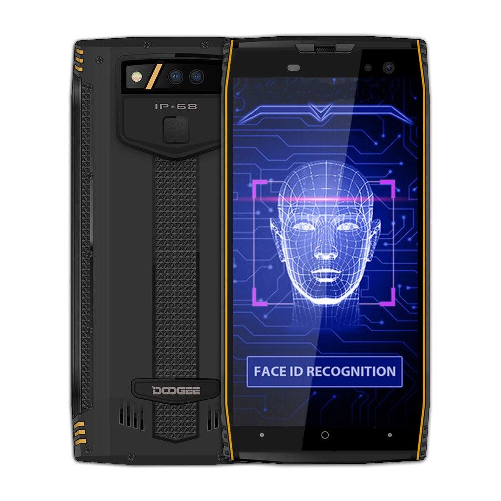 DOOGEE S50 Smartphone IP68 Étanche 5180 mah Charge Rapide MTK6763T 2.5 ghz Octa Core 6 gb RAM 128 gb ROM quad Caméras 16.0MP
