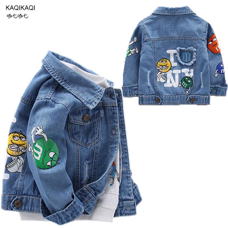 Youngsters's Jacket Denim Boys damaged gap Jean Jackets Women Youngsters clothes child coat Informal outerwear 2019 Spring Autumn Jackets & Coats, Low cost Jackets & Coats, Youngsters's Jacket Denim...
