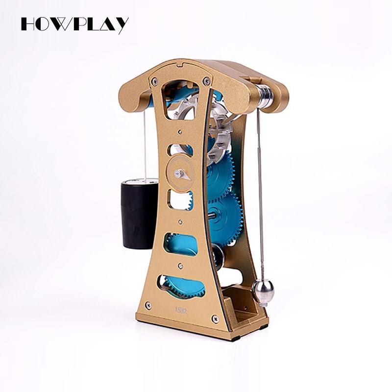 HowPlay Galileo gravity pendulum mechanical clock Metal Assembly Model Adult Toys DIY Mechanical Assembly Children's educational цена