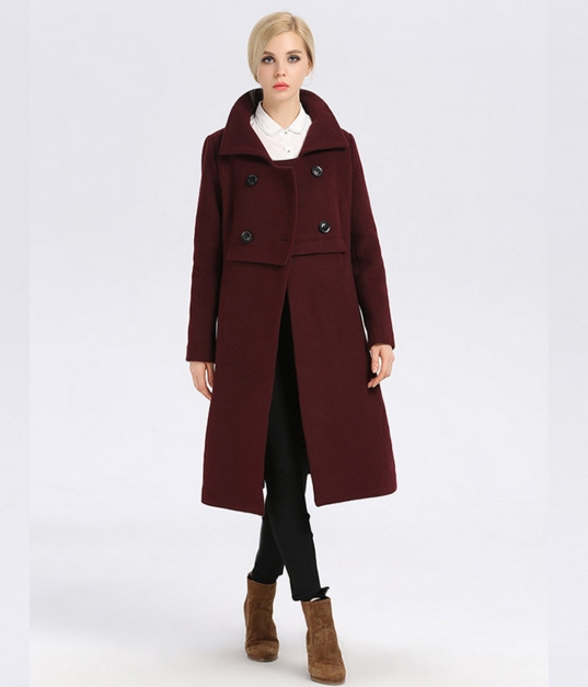 Popular Purple Wool Coats-Buy Cheap Purple Wool Coats lots from ...