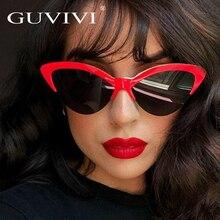 GUVIVI Borboleta Azul Do Olho de Gato Óculos De Sol Das Mulheres 2018 Marca  Designer Óculos de Sol Da Moda Para As Mulheres Da M.. 6f6832af9b