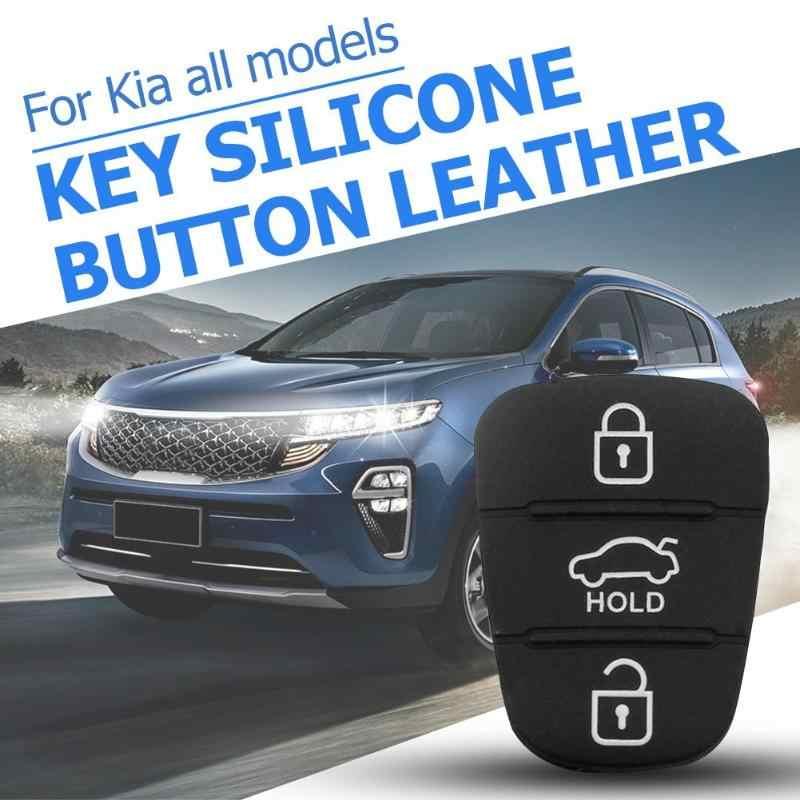 3 ปุ่ม REMOTE Key Fob กรณียางสำหรับ Hyundai I10 I20 I30 IX35 สำหรับ Kia K2 K5 Rio Sportage flip Key SHELL อุปกรณ์เสริม