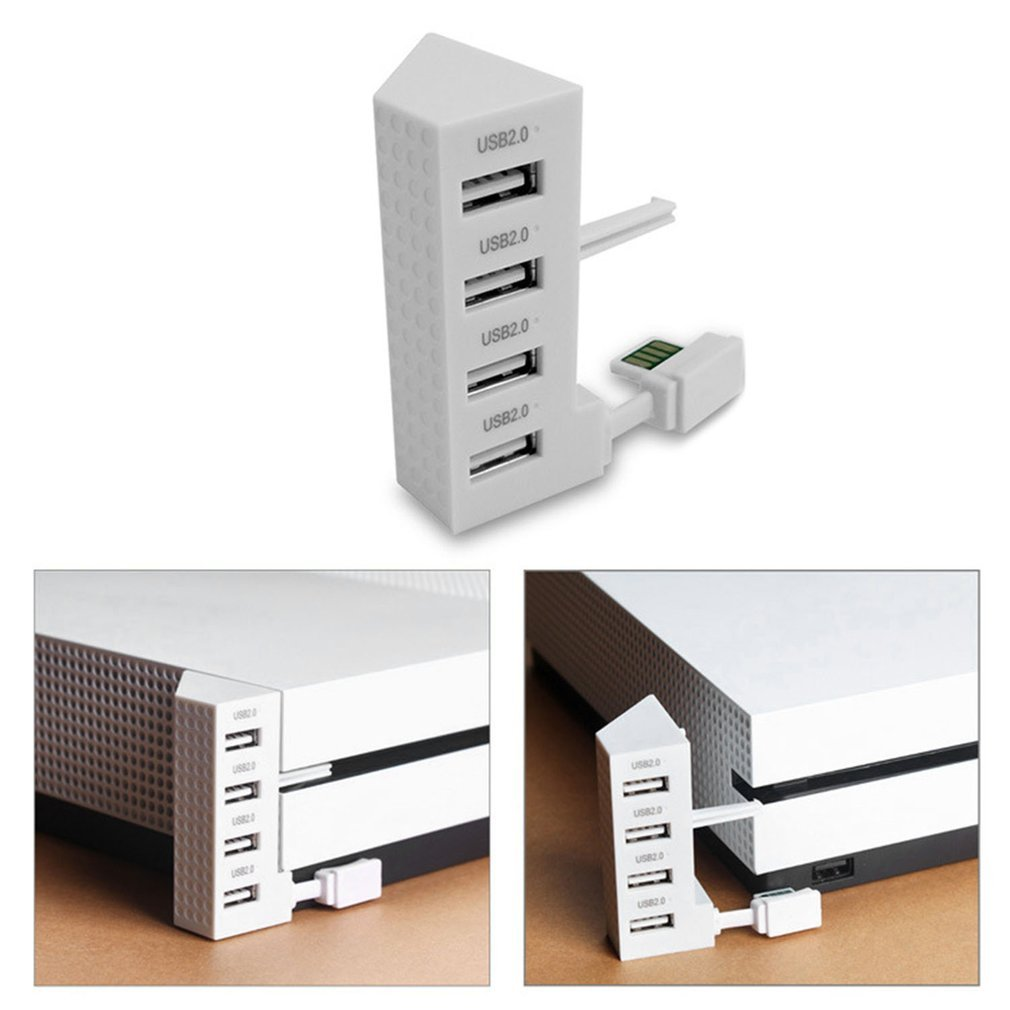 4 Ports USB 2.0 HUB For Xbox One Slim Console USB Splitter Expansion Adapter USB 2.0 Connector Extender Game Accessories