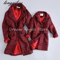 Autumn Winter baby mom family matching clothes casual mother daughter dresses fashion family matching outfits Plaid jacket