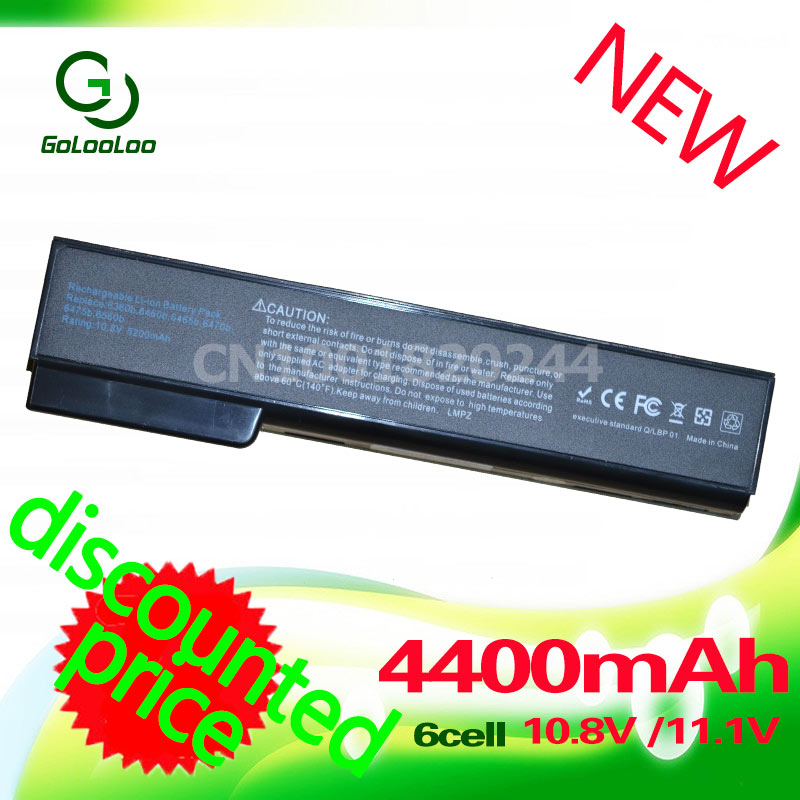 Golooloo 6 Cells Battery For HP EliteBook 8460p 8460w 8560p ProBook 6360b 6460b 6560b 6565b 628369-421 628664-001