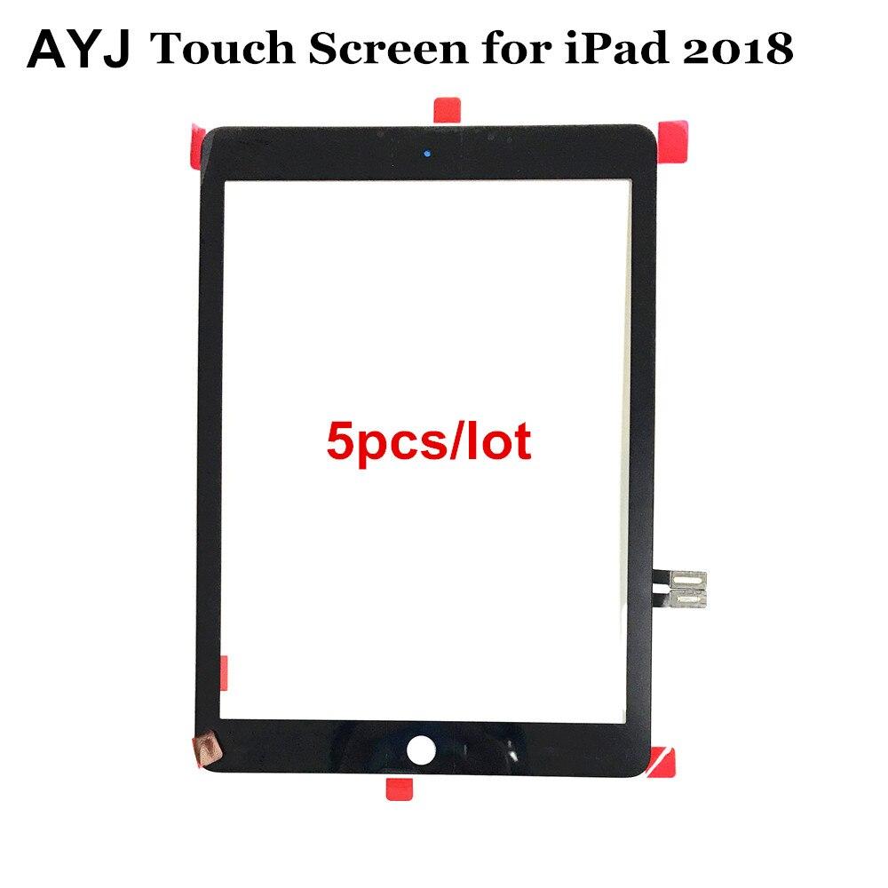 5 pcs/lot numériseur à écran tactile Pour iPad 9.7 (2018 Version) pour iPad 6 6th Gen A1893 A1954 Avant Outer Panneau de Verre