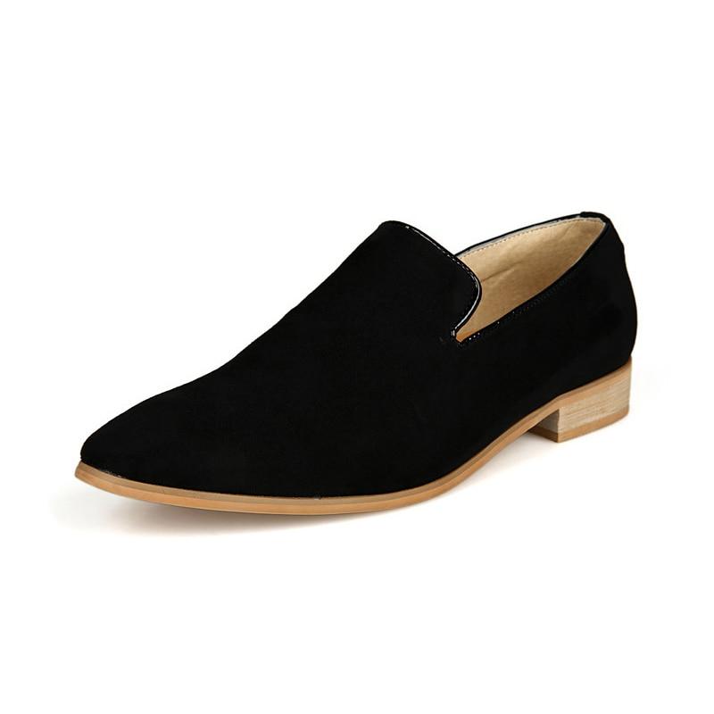 Brand British Men Casual Slip On Loafer Shoes Mens Moccasins Driving Shoe Men's Flats loafers 41 Black стоимость