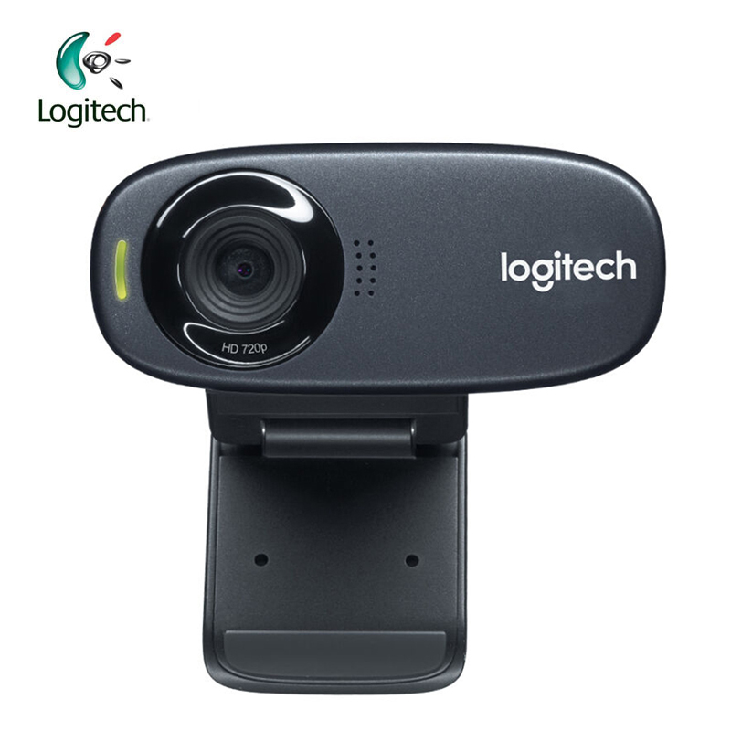 Logitech C310 HD 720P Webcam with 5MP Photos Built-in MIC Auto Focus Support Official Inspection for PC Notebook 100% anc jianying 1080p hd video webcam built in mic for pc laptop mac