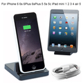 Dual Sync Date Relaxation Charger Cradle desktop Dock Station adapter For iPhone 7 6 6s 6Plus Plus 5 5s 5c ipad mini 1 2 air 5