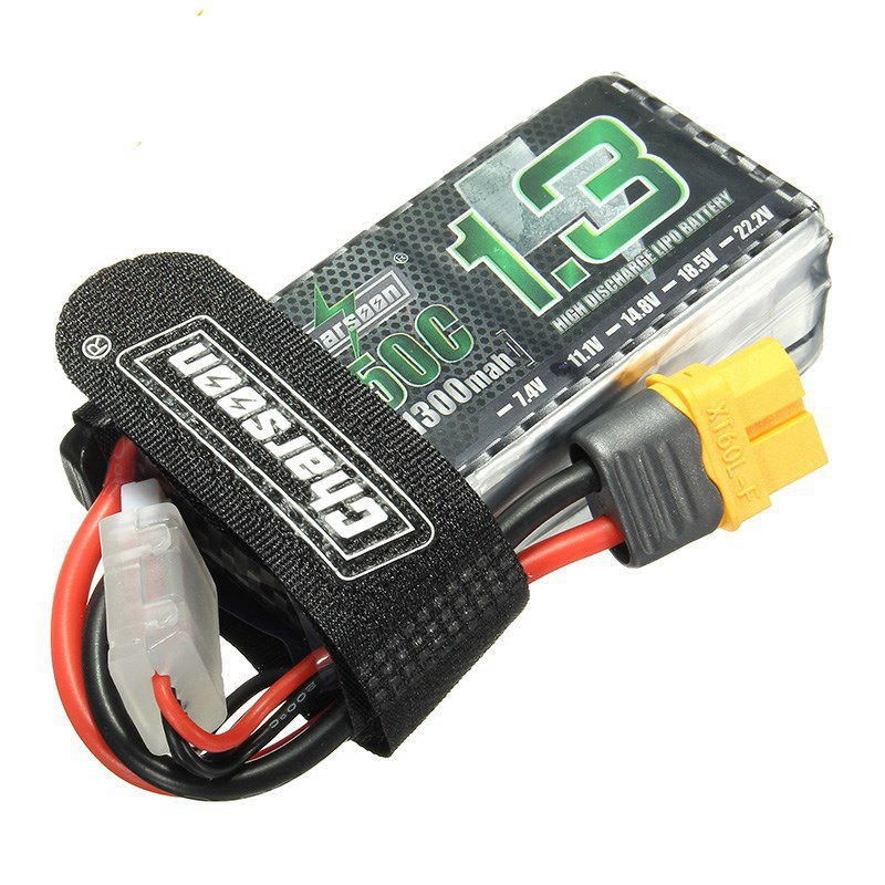 Original Charsoon 11.1V 1300mAh 50C 3S XT60 Plug Rechargeable Lipo Battery With Battery Strap For RC Drone Quadcopter Models acehe 15 2v 1600mah 2500mah 5200mah 6600mah 50c 4s1p 24 32wh xt60 plug high voltage lipo battery
