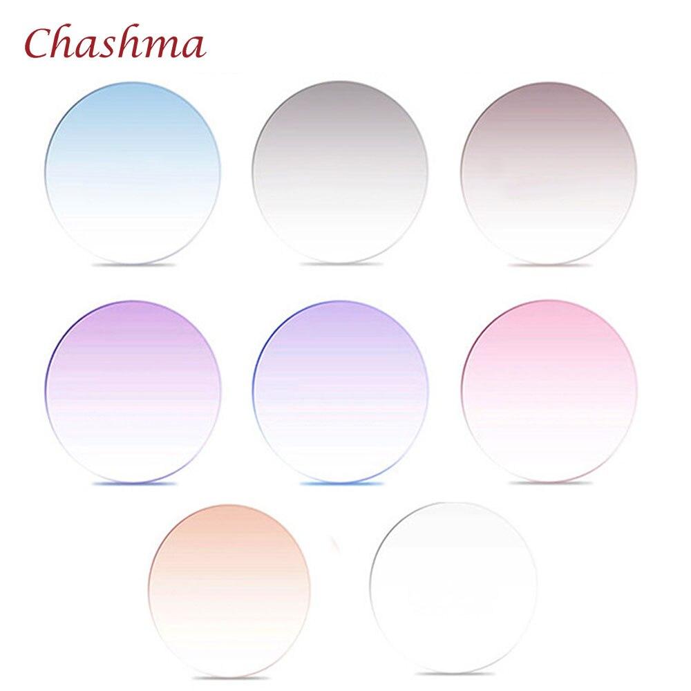 Chashma Marque Qualité 1.61 index MR-8 Lentilles Teinte Prescription Myopie et Lecture Recette lentilles de couleur Anti Résistance Verre