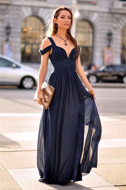 Vestido simples longo festa