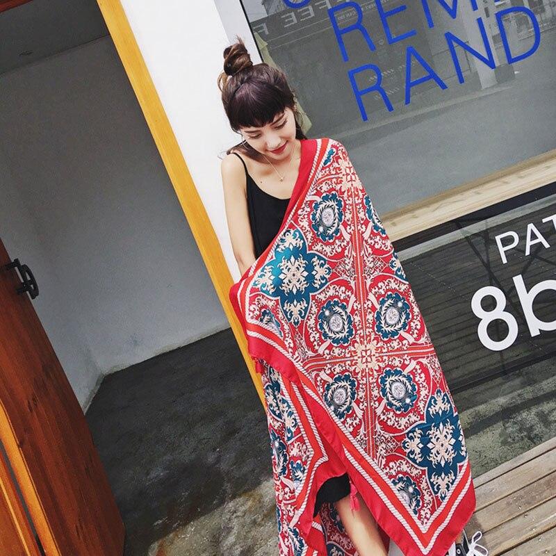 Новое поступление 2017 года Для женщин бренд шарф длинный шарф пончо