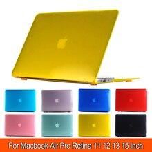 Популярный Кристальный жесткий чехол для MacBook Air 11 A1465/Air 13 дюймов A1466 Pro retina 12 13 15 дюймов+ чехол для клавиатуры